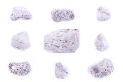 Collection of stone mineral Pumice Stock Photos