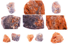 Collection of stone mineral sphalerite Stock Photos