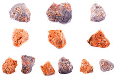 Collection of stone mineral sphalerite Royalty Free Stock Images