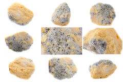 Collection of stone mineral Sulfur Stock Photography