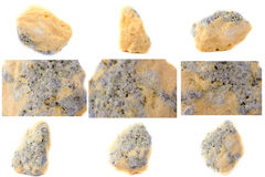 Collection of stone mineral Sulfur Royalty Free Stock Photography