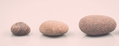 Collection of stones isolated on white. vintage Royalty Free Stock Images