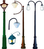 Collection street lanterns Stock Photo