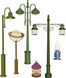 Collection street lanterns Stock Photos