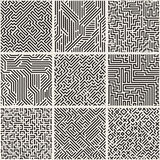 Collection of striped seamless geometric patterns. Royalty Free Stock Image