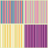 Collection of striped seamless patterns Stock Photos
