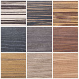Collection of striped wood textures Royalty Free Stock Photography