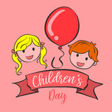 Collection style background childrens day Royalty Free Stock Images