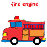 Collection style of fire engine. Vector illustration Stock Images