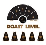 Collection of  styled coffee labels Stock Images