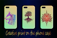 Gradient covers for phone - mockups Royalty Free Stock Images