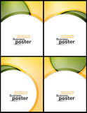 Collection Stylish presentation of business poster Stock Images