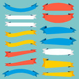Collection of stylish ribbons. Royalty Free Stock Images