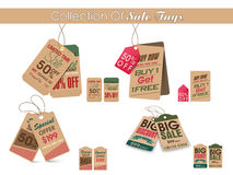 Collection of stylish vintage Sale tags. Collection of vintage tags or labels for Big Sale with special discount offer Stock Image
