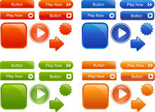 Collection of stylish Web shiny buttons Royalty Free Stock Images