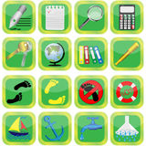 Collection of subjection and symbols Stock Image