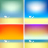 Collection of summer background Stock Images