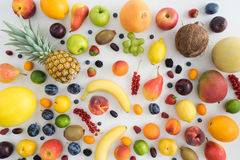 Collection of summer fruits royalty free stock photography