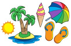 Collection of summer images Stock Photos