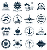 Collection Summer Labels Stock Image