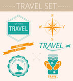 Collection summer labels, labels, badges Royalty Free Stock Images