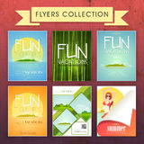 Collection of Summer Vacation Flyers for tour and travels. Royalty Free Stock Image