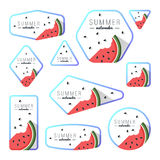 Collection of summer watermelon cards Stock Image