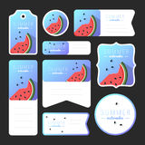 Collection of summer watermelon cards Royalty Free Stock Photo