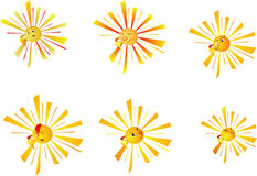 Collection of the sun. Vector. Stock Photo