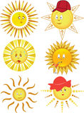 Collection of the sun. Vector illustration Stock Images