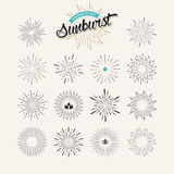 Collection of sunburst design elements Royalty Free Stock Photography