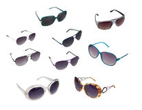 Collection of sunglasses Stock Photo