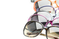 Collection of sunglasses Royalty Free Stock Images