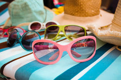 Collection of sunglasses Royalty Free Stock Photos