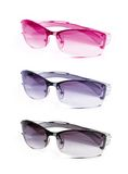 Collection sunglasses on white Stock Image