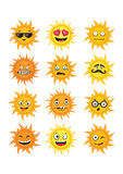 Collection suns Stock Image