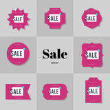 Collection Super Sale and Big sale cards Royalty Free Stock Images