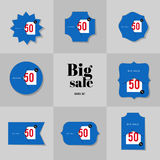 Collection Super Sale and Big sale cards Stock Image