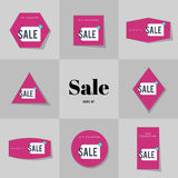 Collection Super Sale and Big sale cards Stock Photo