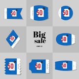 Collection Super Sale and Big sale postage stamp Royalty Free Stock Image