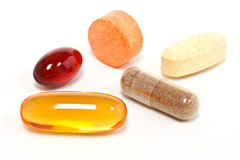 Collection of Supplements. (isolated on white background Stock Photo