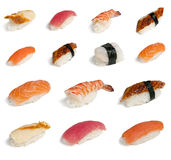 Collection sushi Stock Photos