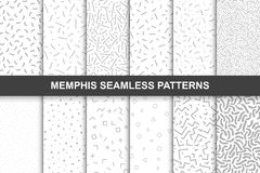 Collection of swathces memphis patterns - seamless. Fashion 80-90s royalty free illustration