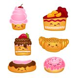 Collection of sweet pastries royalty free illustration