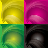 Collection swish background Stock Photos