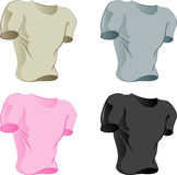Collection of t-shirts Royalty Free Stock Image