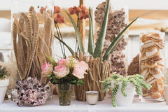 Collection of table decoration Royalty Free Stock Photography