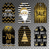 Collection tag of Christmas sale stock illustration