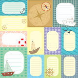 Collection of tags for scrapbook Royalty Free Stock Image