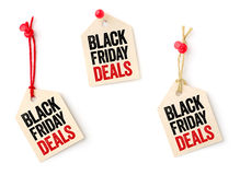 Collection of tags with the text Black Friday Deals Royalty Free Stock Photography